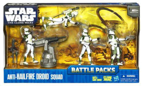 Star Wars The Clone Wars Battle Packs 2010 Anti-Hailfire Droid Squad Action Figure Set