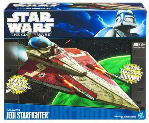 Star Wars The Clone Wars Vehicles 2010 Obi-Wan's Jedi Starfighter Action Figure Vehicle