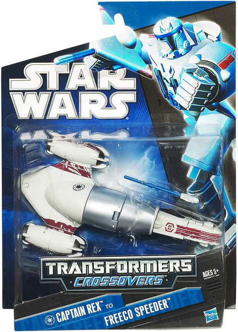 Star Wars The Clone Wars Transformers Crossovers 2010 Captain Rex to Freeco Speeder Action Figure