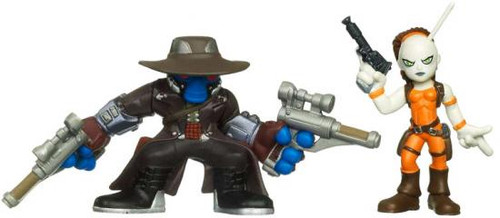 Star Wars The Clone Wars Galactic Heroes 2010 Cad Bane & Aurra Sing Mini Figure 2-Pack