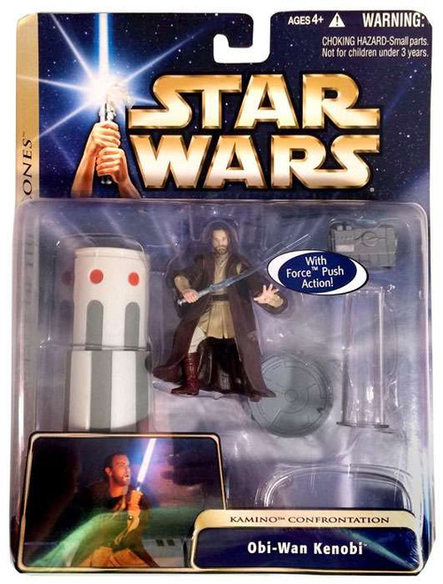 Star Wars Attack of the Clones Basic 2004 Obi-Wan Kenobi Action Figure [Kamino Confrontation]