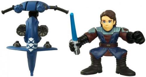 Star Wars The Clone Wars Galactic Heroes 2010 Anakin Skywalker & STAP Mini Figure 2-Pack