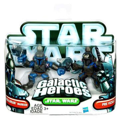 Star Wars The Clone Wars Galactic Heroes 2010 Mandalorian Warrior & Pre Vizsla Mini Figure 2-Pack