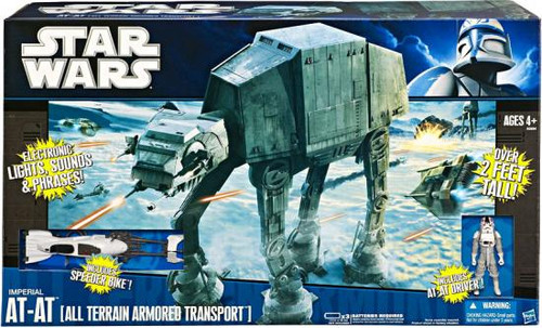 Star Wars The Clone Wars Vehicles 2010 Imperial AT-AT Action Figure Vehicle [All Terrain Armored Transport]