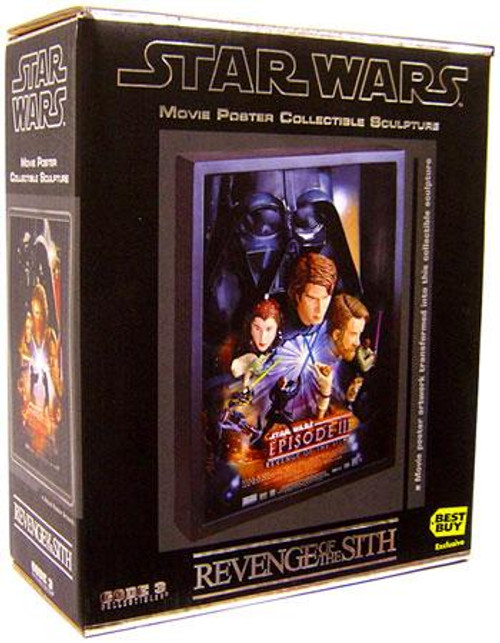 Star Wars 3-D Movie Poster Sculptures Revenge of the Sith 3-D Movie Poster Sculpture