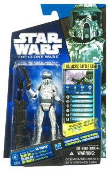Star Wars The Clone Wars Clone Wars 2010 Jungle Camo ARF Trooper Action Figure CW24