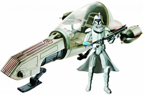 Star Wars The Clone Wars Vehicles & Action Figure Sets 2010 Freeco Speeder with Clone Trooper Action Figure Set
