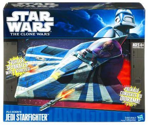 Star Wars The Clone Wars Vehicles 2010 Plo Koon's Jedi Starfighter Action Figure Vehicle