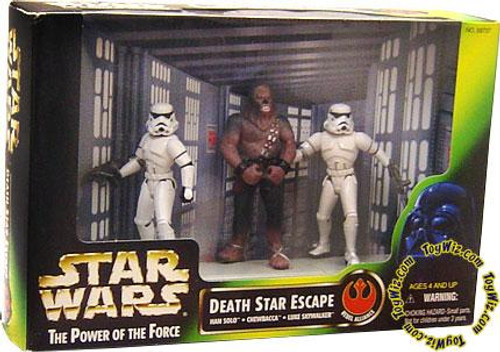 Star Wars A New Hope Power of the Force POTF2 Deluxe Death Star Escape Action Figure Set