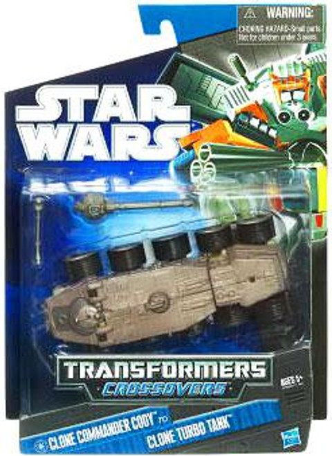 Star Wars The Clone Wars Transformers Crossovers 2010 Commander Cody to Clone Turbo Tank Action Figure