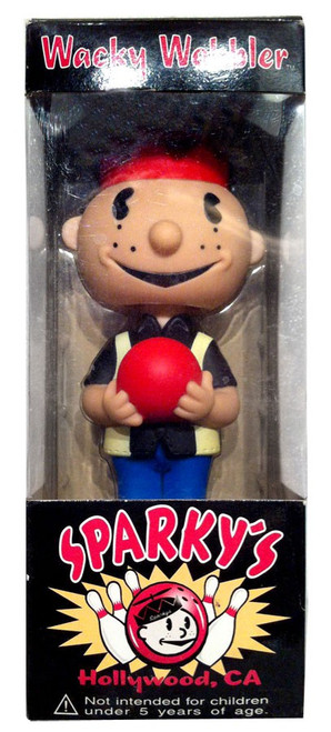 Funko Wacky Wobbler Sparky Bowler Exclusive Bobble Head