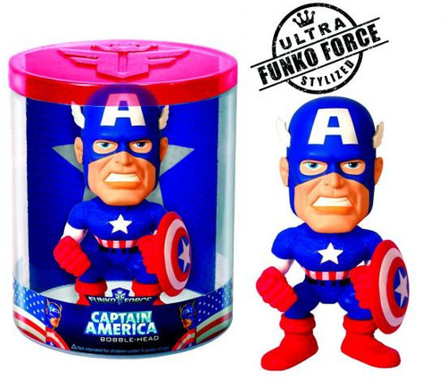 Marvel Funko Force Captain America Bobble Head