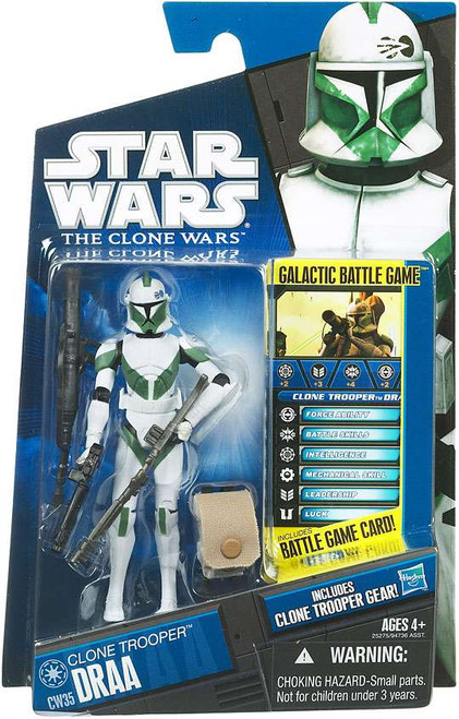 Star Wars The Clone Wars Clone Wars 2010 Clone Trooper Draa Action Figure CW35