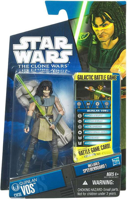 Star Wars The Clone Wars Clone Wars 2010 Quinlan Vos Action Figure CW36