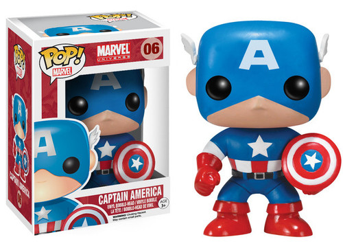 Marvel Universe Funko POP! Marvel Captain America Vinyl Bobble Head #06