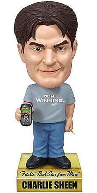 Funko Wacky Wobbler Charlie Sheen Talking Bobble Head