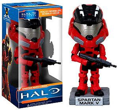 Funko Halo Universe Wacky Wobbler Spartan Mark V Bobble Head [Red]