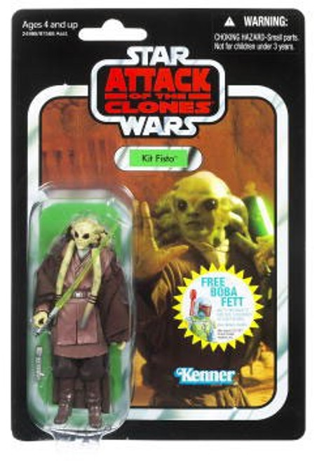 Star Wars Attack of the Clones Vintage Collection 2011 Kit Fisto Action Figure #29 [Package May Differ, Same Exact Figure Inside!]