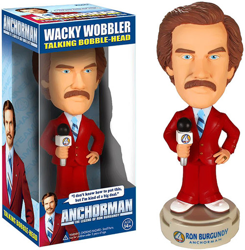 Funko Anchorman The Legend of Ron Burgundy Wacky Wobbler Ron Burgundy Bobble Head