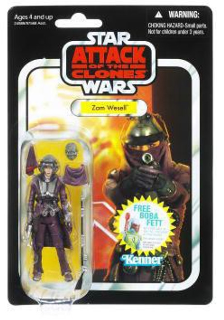Star Wars Attack of the Clones Vintage Collection 2011 Zam Wesell Action Figure #30