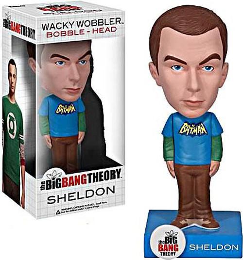 Funko The Big Bang Theory Wacky Wobbler Sheldon Bobble Head [Batman Shirt]