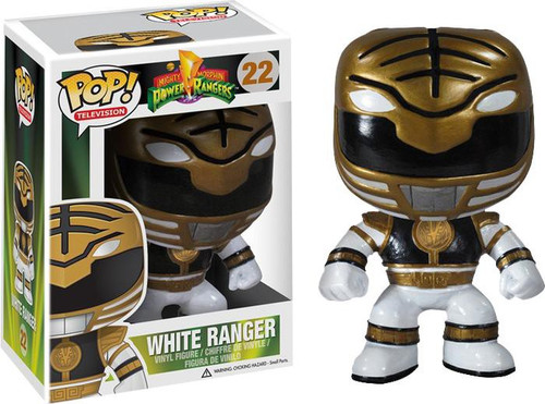 Power Rangers Funko POP! Television White Ranger Vinyl Figure #22
