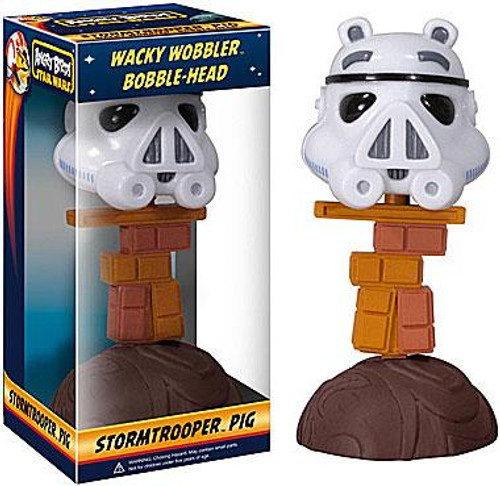 Funko Star Wars Angry Birds Wacky Wobbler Stormtrooper Pig Bobble Head