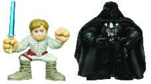 Star Wars Empire Strikes Back Galactic Heroes 2010 Luke Skywalker & Darth Vader Mini Figure 2-Pack