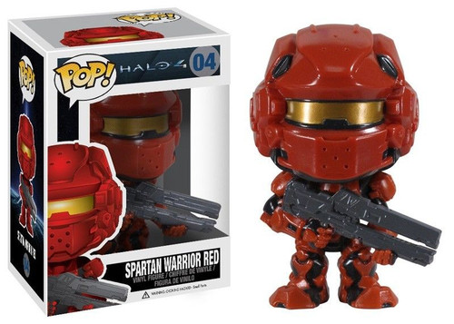 Halo 4 Funko POP! Halo Spartan Warrior Red Vinyl Figure #04