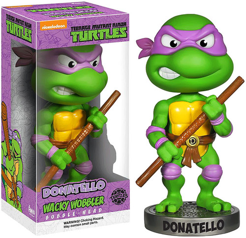 Funko Teenage Mutant Ninja Turtles Wacky Wobbler Donatello Bobble Head