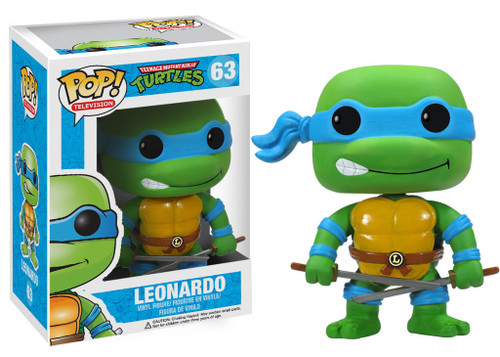 Teenage Mutant Ninja Turtles Funko POP! Television Leonardo Vinyl Figure #63