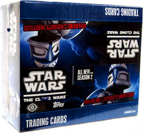 Star Wars The Clone Wars Rise of the Bounty Hunters Trading Card Box [24 Packs]