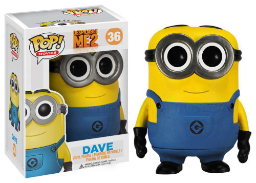Despicable Me 2 Funko POP! Movies Dave Vinyl Figure #36
