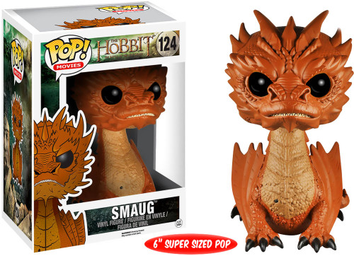 The Hobbit The Desolation of Smaug Funko POP! Movies Smaug (Black Eyes) 6-Inch Vinyl Figure #124 [Super-Sized]