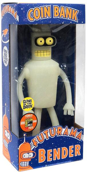 Funko Futurama Bender Exclusive 12-Inch Coin Bank [Glow-in-the-Dark]