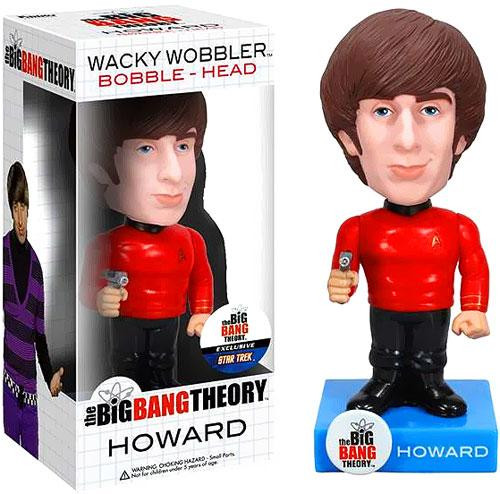 Funko The Big Bang Theory Wacky Wobbler Howard Exclusive Bobble Head [Star Trek Uniform]