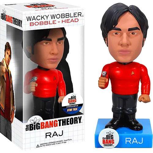 Funko The Big Bang Theory Wacky Wobbler Raj Exclusive Bobble Head [Star Trek Uniform]