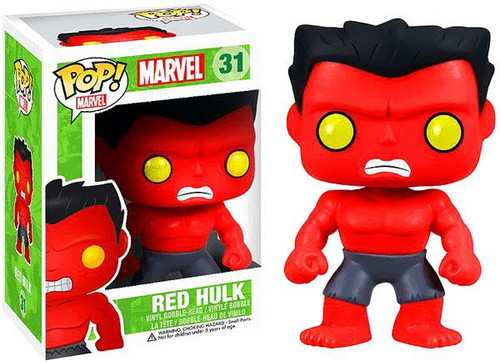 Marvel Universe Funko POP! Marvel Red Hulk Vinyl Bobble Head #31 [2013]