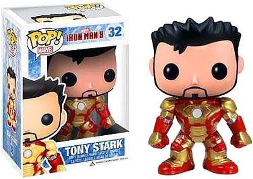 Iron Man 3 Funko POP! Marvel Tony Stark Exclusive Vinyl Bobble Head #32 [Unmasked Iron Man]