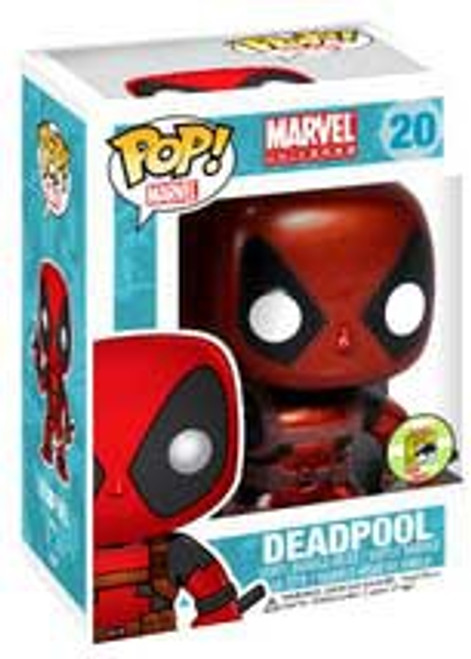 Marvel Universe Funko POP! Marvel Deadpool Exclusive Vinyl Bobble Head #20 [Metallic Red & Black]