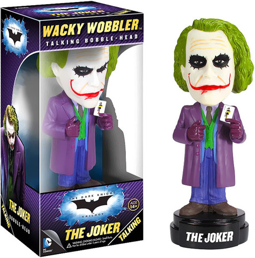 Funko Batman The Dark Knight Wacky Wobbler The Joker Talking Bobble Head [The Dark Knight]