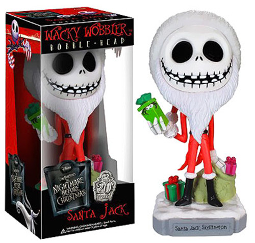 Funko The Nightmare Before Christmas Wacky Wobbler Santa Jack Skellington Bobble Head
