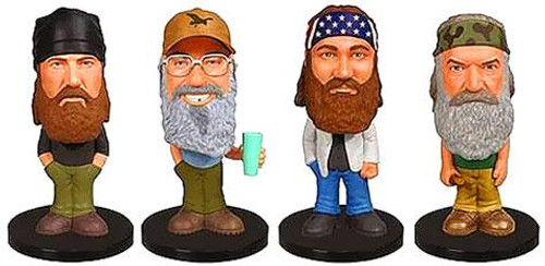 Funko Wacky Wobbler Duck Dynasty Set of 4 Mini Bobble Heads