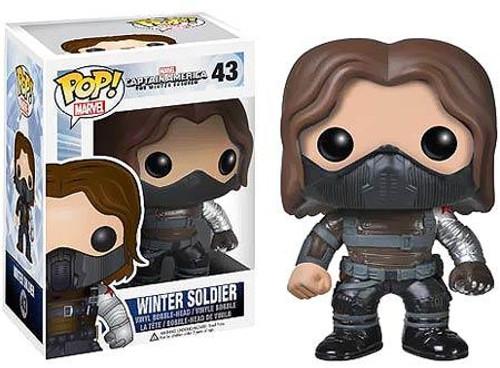 Captain America: The Winter Soldier Funko POP! Marvel Winter Soldier Vinyl Bobble Head #43 [No Mask]