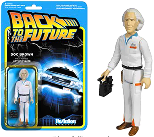 Funko Back to the Future ReAction Doc Emmett Brown Action FIgure