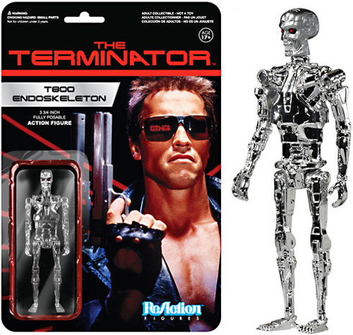 Funko The Terminator ReAction T800 Endoskeleton Action Figure [Chrome]