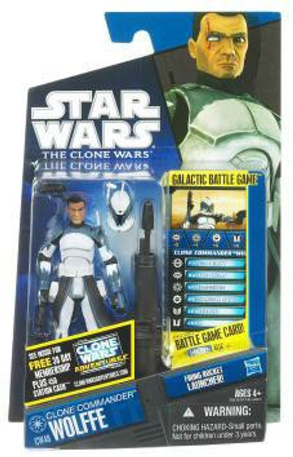 Star Wars The Clone Wars Clone Wars 2011 Clone Commander Wolffe Action Figure CW48