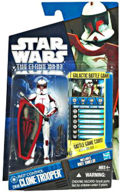 Star Wars The Clone Wars Clone Wars 2011 Riot Control Clone Trooper Action Figure CW49