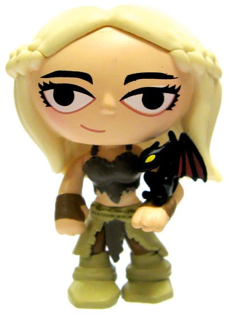 Funko Game of Thrones Series 1 Mystery Minis Daenerys Targaryen 2.5-Inch 1/24 Rare Vinyl Mini Figure [Drogon Version Loose]