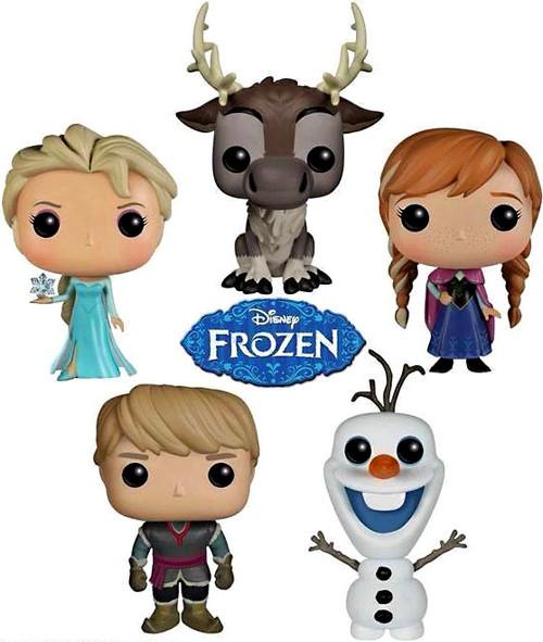 Disney Frozen Funko POP! Movies Elsa, Anna, Kristoff, Olaf & Sven Set of 5 Vinyl Figures [Series 1]